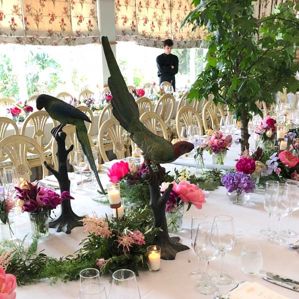 adorno de mesa en eventos