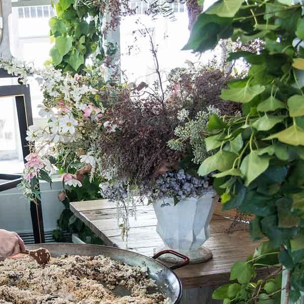 decoración con flores naturales
