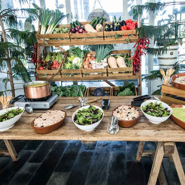 Buffet vegetales